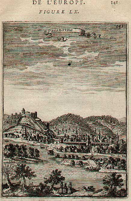 Bratislava - Presbourg - od A. M. Malleta (1683)