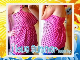 Le-Kimi: Freebook I LOVE SUMMER BEACH TOP I neckholder Top nähen