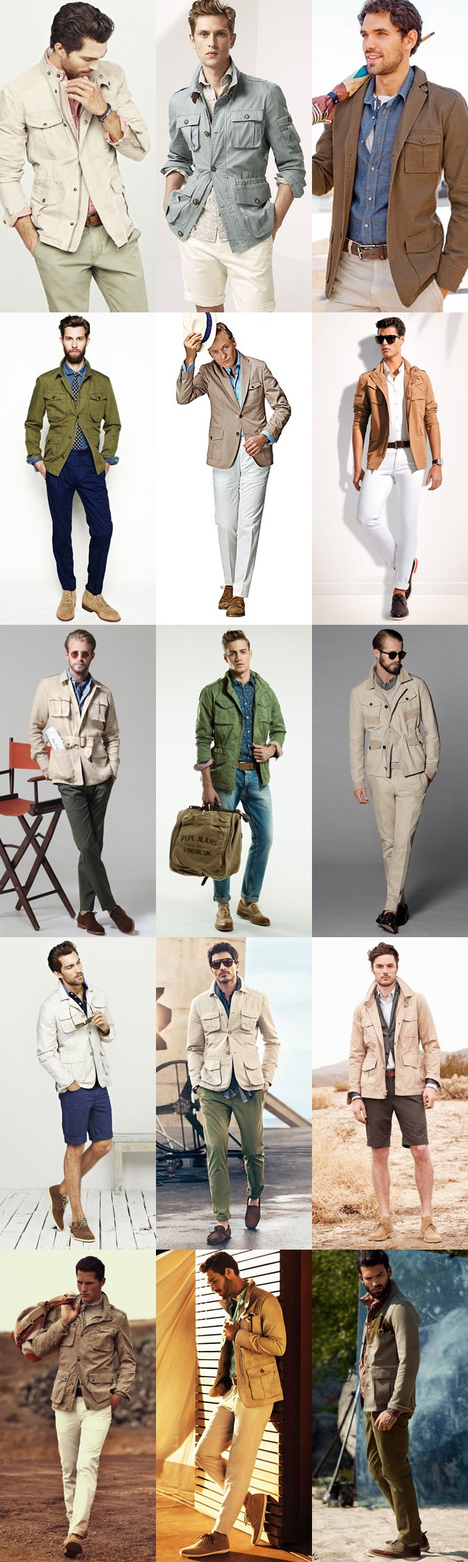 Style Inspiration: Modern Safari - The Safari Jacket Lookbook Inspiration