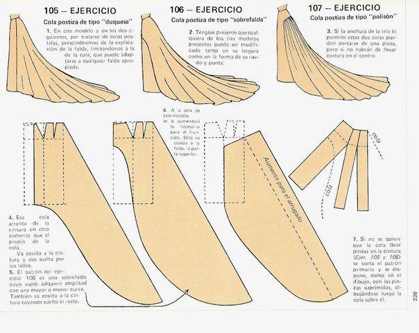 Falda de cola