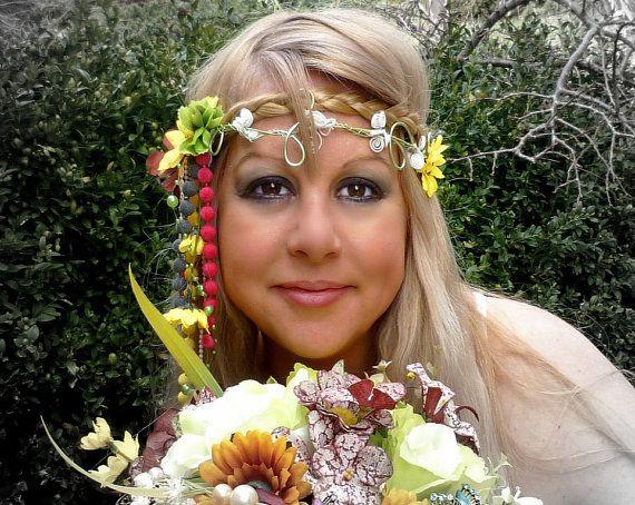 Wedding hair ornament Hippies wedding by wandadesign on Etsy, €25.00