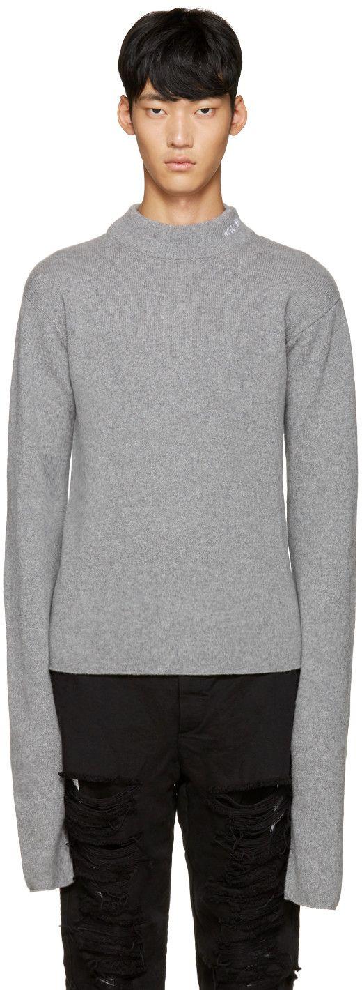 Hood by Air - Grey Logo Turtleneck