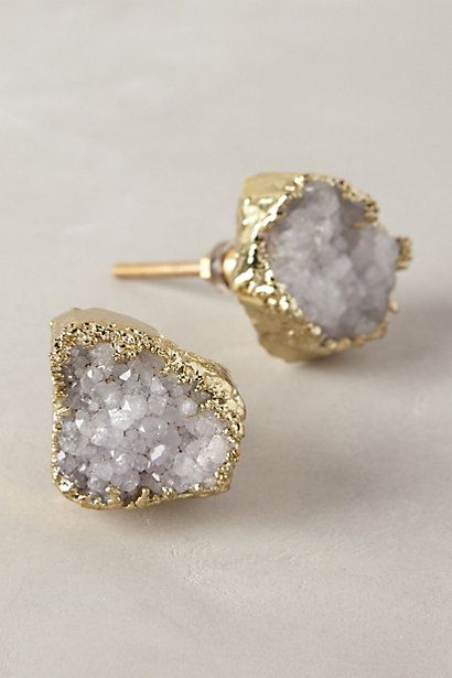 I like these in the darker purple, too. Crowned Quartz Knob #anthrofave