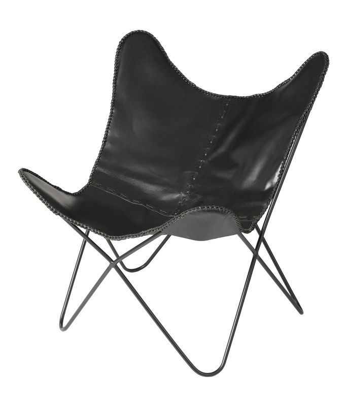 Earth Wind Fire Butterfly Chair - Black Leather (4 per box)