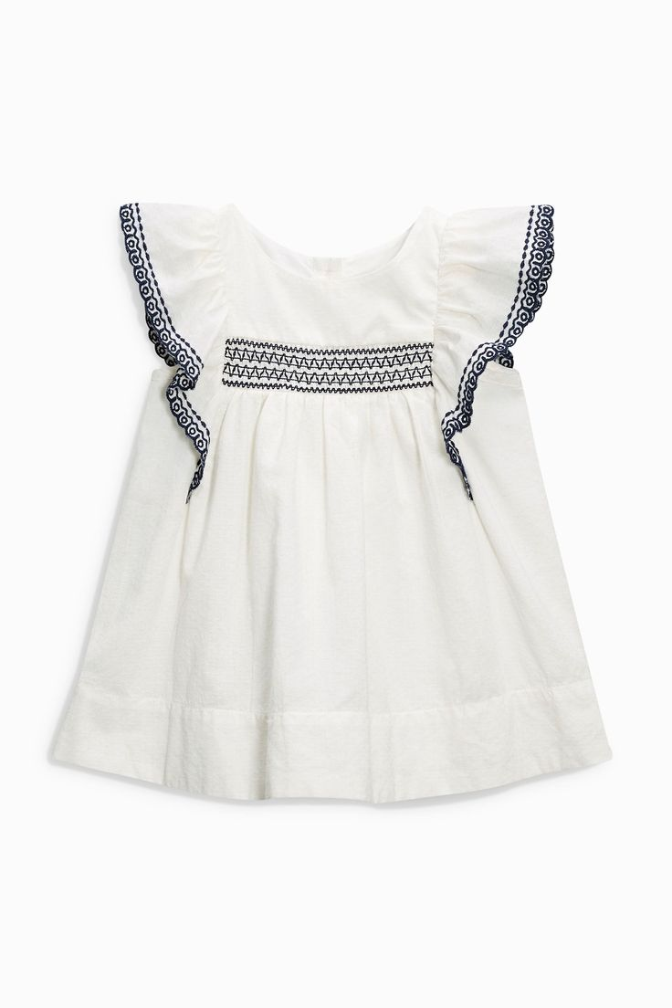 Embroidered Smock Baby Dress | Next USA