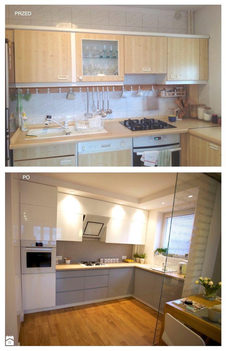 REFRESH MIESZKANIA 48m2 - Średnia otwarta kuchnia w kształcie litery l w aneksie, styl nowoczesny - zdjęcie od WNĘTRZNOŚCI Projektowanie wnętrz i mebli Aneta Stokowska