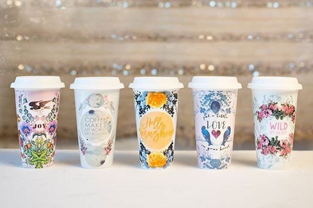 Fall and coffee make the perfect pair.  Our new collection of porcelain Travel Mugs are now up on our website. ☕️