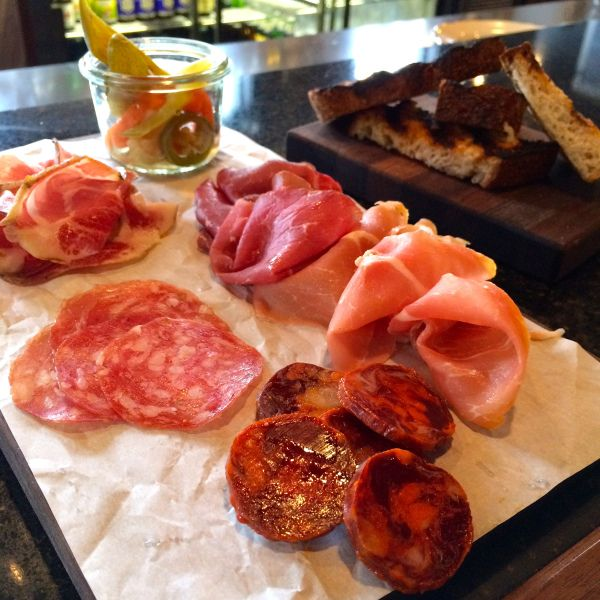 The Merchant Tavern charcuterie plate prosciutto chorizo pickles sourdough where to eat downtown st. john's newfoundland