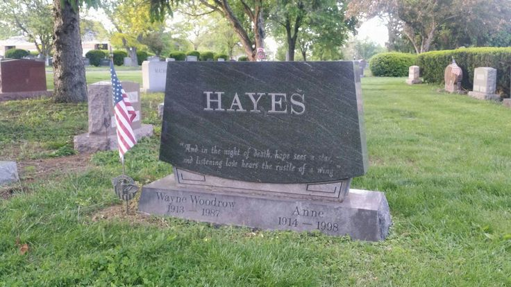 Woody Hayes grave, Greenlawn Cemetary, Columbus, Ohio