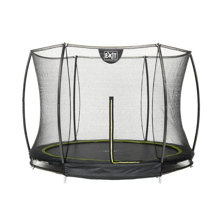 Sort rund Silhouette trampolin til nedgravning. Exit nedgravningstrampolin leveres med sikkerhedsnet og fodbeskytter. Se Danmarks vel nok største udvalg i trampoliner til STÆRKE priser. Altid hurtig levering.  2859,-
