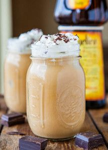 One-Minute Boozy Iced Coffee with more recipe links #glutenfree  #beverages