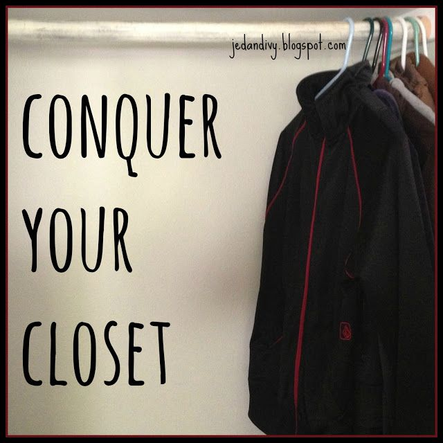 7 steps to an organized closet.  This is exactly how I organize mine (I just need to do it more often)! I'm a BIG fan of organizing clothing by type rather than color.