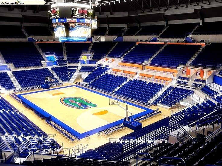 O'Connell Center on the University of Florida Campus.  #Basketball, #Volleyball, #Gymnastics, and More.   #O'ConnellCenter  www.GainesvilleFloridaHomes.com