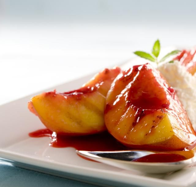 A sweet, delicious grilled nectarine dessert perfect for an occasion. Serve with ice cream, use in other desserts like pies and dessert pizzas.