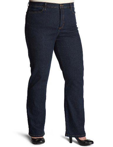 NYDJ Women's Plus-Size Straight-Leg Jeans