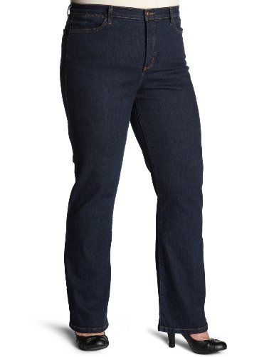 NYDJ Women's Plus-Size Straight-Leg Jeans