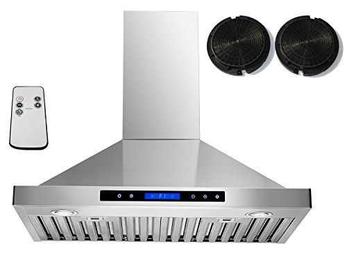 "AKDY 30"" Convertible Wall Mount Stainless Steel Ductless/Ventless Range Hood with Remote AZ-B02-75N"