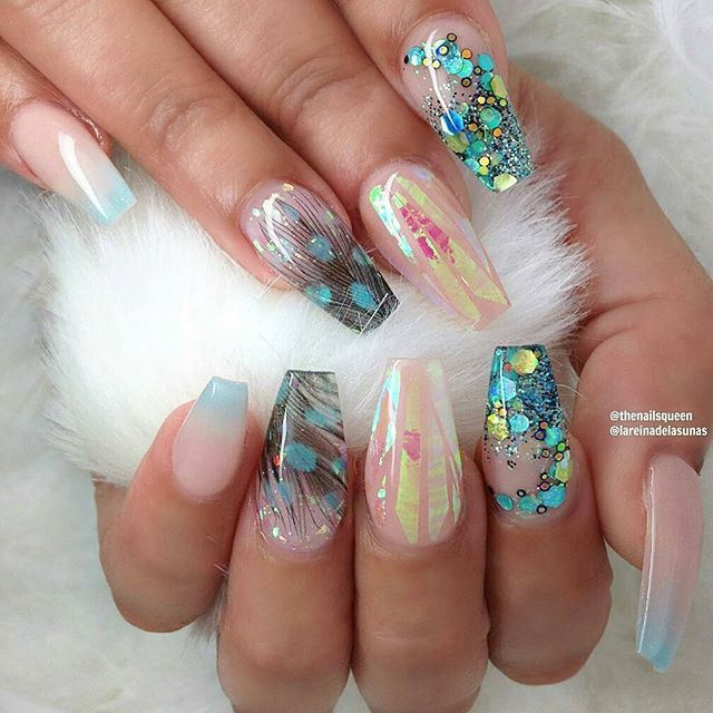 ber ideen zu ballerina nails auf pinterest helle n gel hellblaue n gel und matt nails. Black Bedroom Furniture Sets. Home Design Ideas