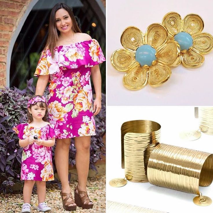 Adorable propuesta  inspiración #Floral . Conjunto Madre-Hija: @sharjahbysp Zarcillos: @cvcarolinavivas Brazaletes: @byjuliocesarflores . #Outfit #Estilo #Casual #Madre #Hija #Accesorios #DiseñoVenezolano #Designer #Venezuela