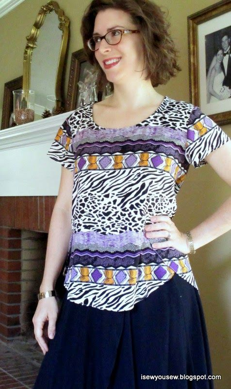 I Sew, You Sew: Crescent blouse/Scout T mash up