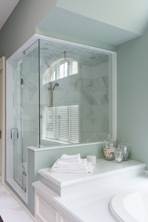 17 best images about tile showers and bathrooms on for Attached bathroom design