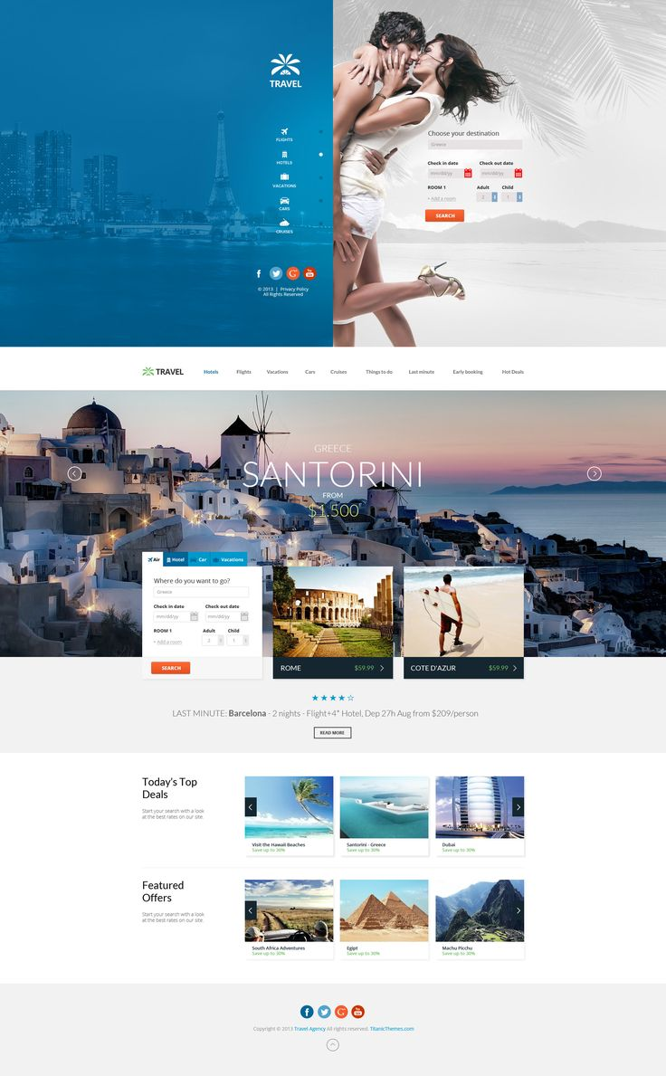 Travel Agency - Multipurpose Booking PSD Template by *DaJyDesigns on deviantART #webdesign