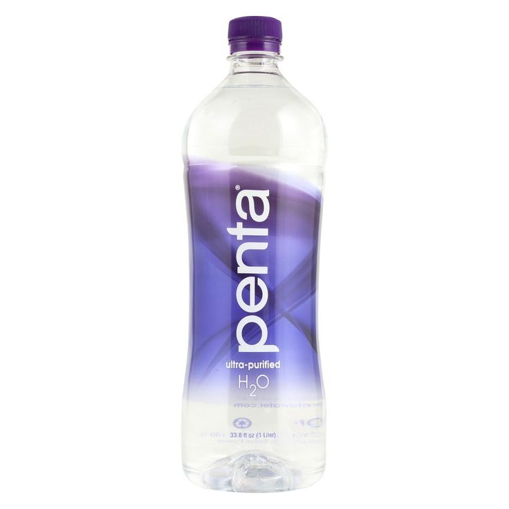 Penta Purified Water Ultra Purified Water - Case Of 12 - 1 Liter