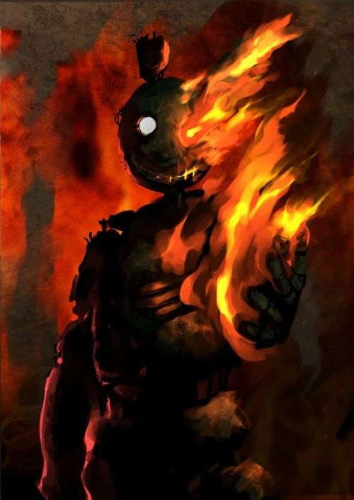 Springtrap The Night Of The Fire In The Attraction