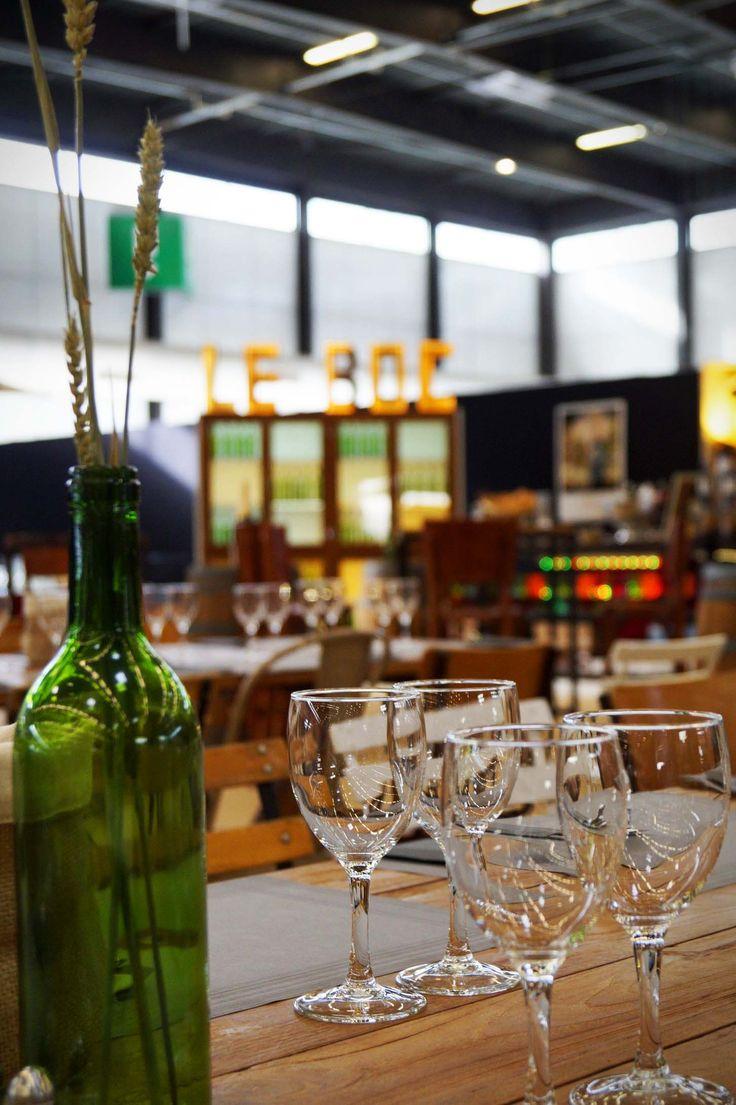 """La décoration """"bois et vignobles"""" du restaurant L'Oxer pour le Jumping International de Bordeaux"""