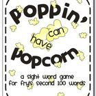 """These words just keep """"poppin"""" up! This game can instantly be incorporated into your classroom. It can be used in literacy centers, small groups,..."""