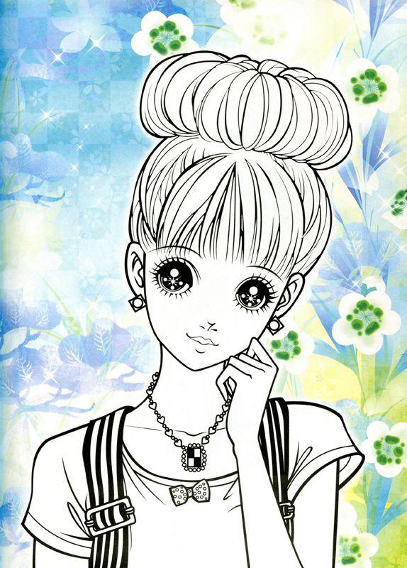 manga coloriage fille adulte coloring sheetsadult