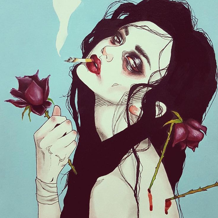 """Submission from one of our faves @harumi_hironaka #submission #art #illustration #arsenicgallery"" - EU DESCOBRI DEFINITIVAMENTE QUE MEU ALTER EGO FUMA E MUITO!"