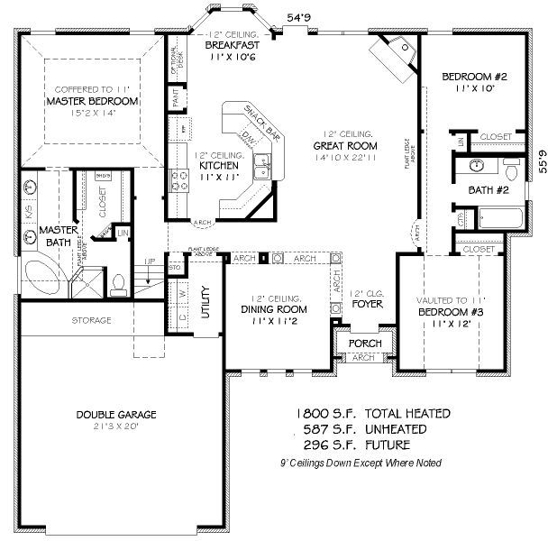 1800 square feet 3 bedrooms 2 batrooms 2 parking space for 1800 sq ft floor plans