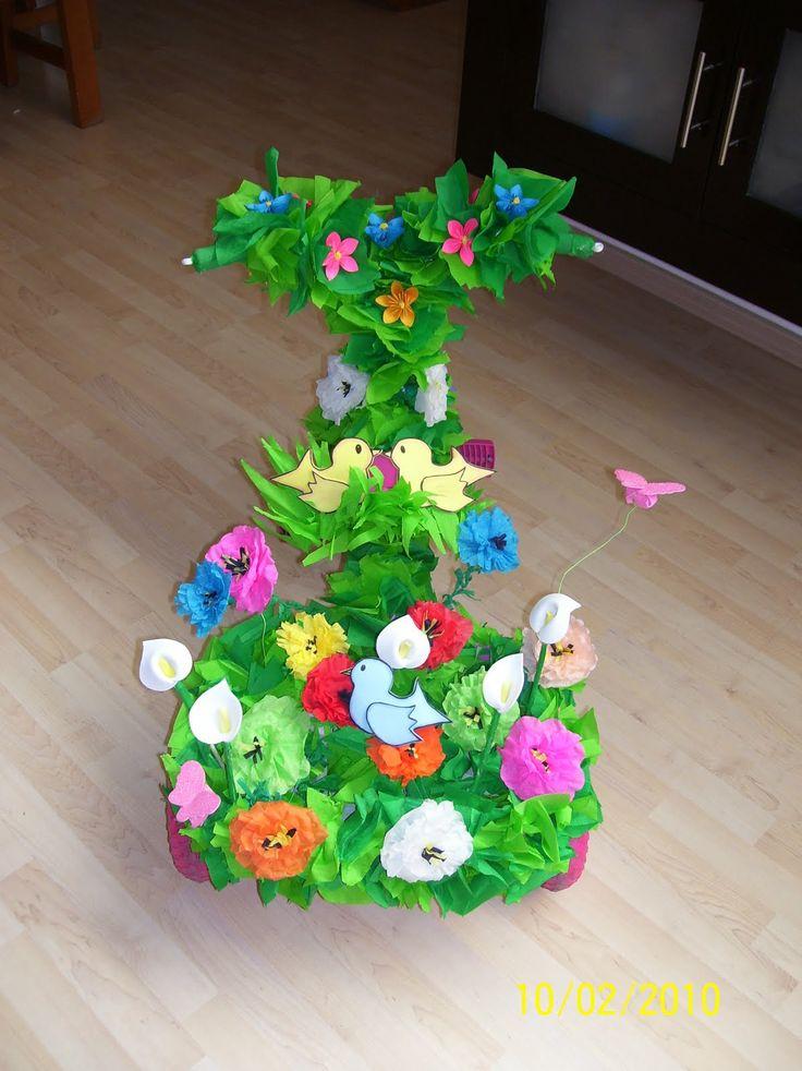 Monys monadas decoraci n de triciclos primavera for Decoracion de calabazas manualidades