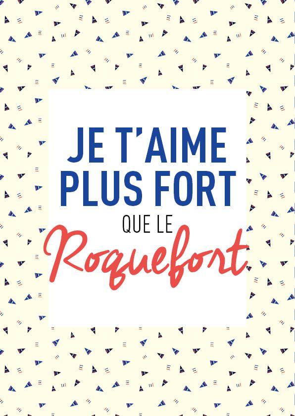 Je t'aime plus fort que le roquefort ! #mantra #phrase #magique #kids #enfant #amour #originalkids #tapealoeil