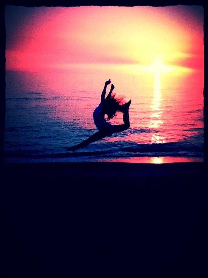 Me doing gymnastics on the beach -Jenna Steinmetz