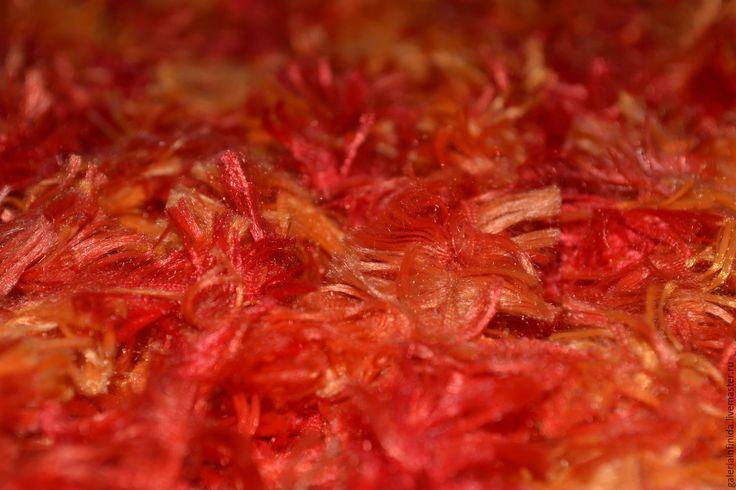 """Купить Жилет вязаный """"Львенок"""" жилет пушистый, оранжевый, красный, жилет"""