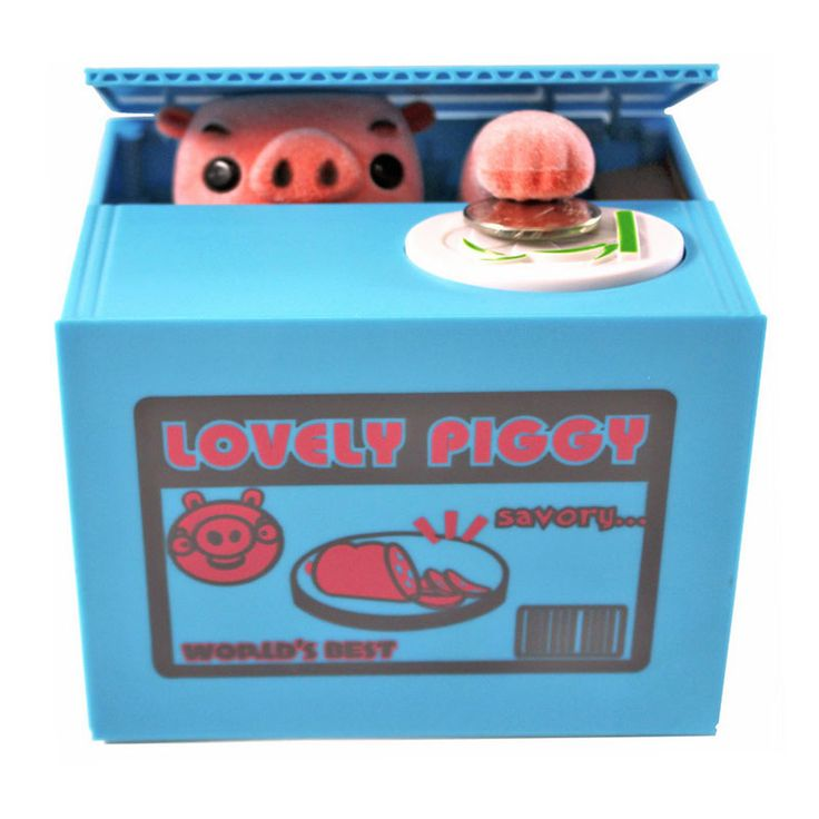 Hot Sale Super Lovely Cat Pig Stealing Bank Cat Eat Funny Creative Money Box Safe Box Saving Money Coin Bank Best Gifts For Kids
