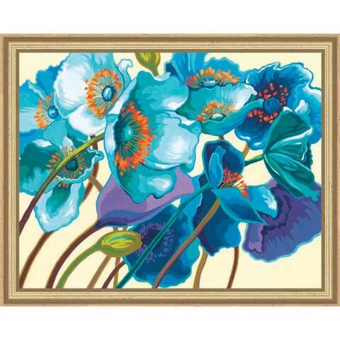 Blue Poppies Paint-by-Number Kit - Herrschners
