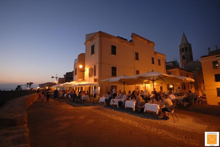 Angedras Restaurant La Terrazza all'aperto lungo i Bastioni vista mare