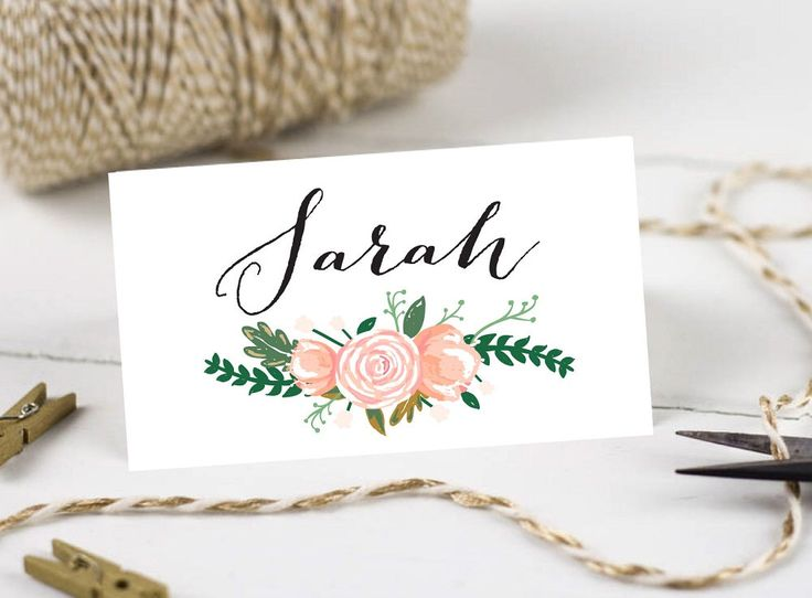 25+ best Printable wedding place cards ideas on Pinterest | Diy ...