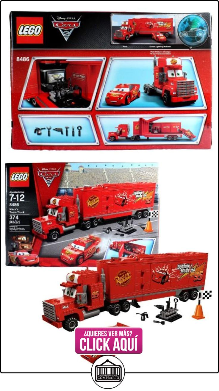 Lego Year 2011 Disney Pixar Cars 2 Movie Scene Set #8486 - MACK'S TEAM TRUCK with Opening Trailer Plus Classic Lightning McQueen, Cone, Racing Flag and Tool Rack with Tools (Total Pieces: 374) by Unknown  ✿ Lego - el surtido más amplio ✿ ▬► Ver oferta: https://comprar.io/goto/B007PK7OD4