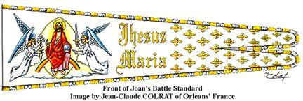 Front of Joan of Arc's Battle Standard
