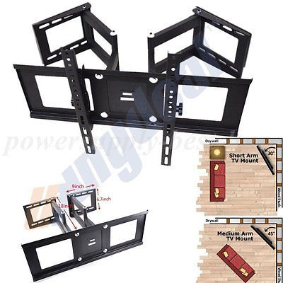 "Full Swivel Tilt TV Corner Wall Mount Bracket 30-70"" LED LCD for Samsung LG Sony"