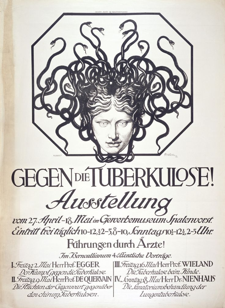 """""""Tuberculosis: the head of the Medusa representing the disease, and #LogoCore"""