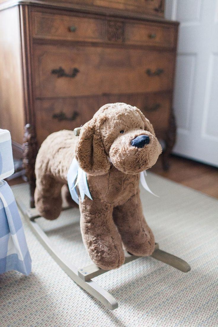 the long and short of it: Traditional Nursery, puppy rocker, boy nursery