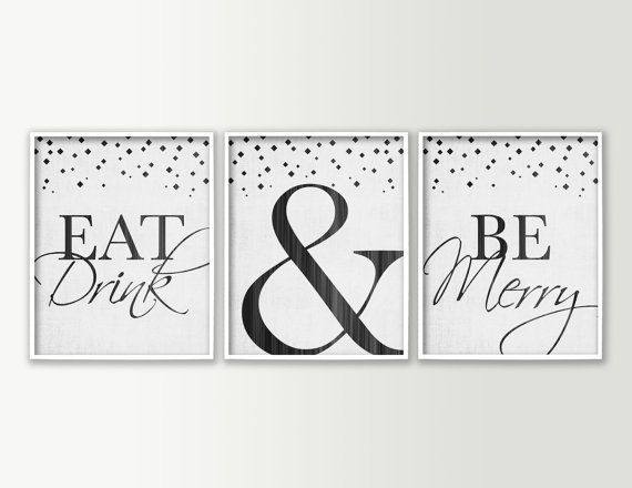 Eat Drink Be Merry Dining Room Wall Decor Modern Dining Room Art Re