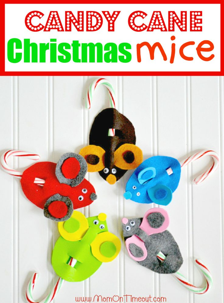 Candy Cane Mice Christmas Craft.: Holiday, Christmas Crafts, Gift, Candy Canes, Cane Mice, Kid Craft