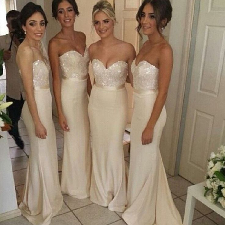 Best 25  Champagne colored bridesmaid dresses ideas on Pinterest ...