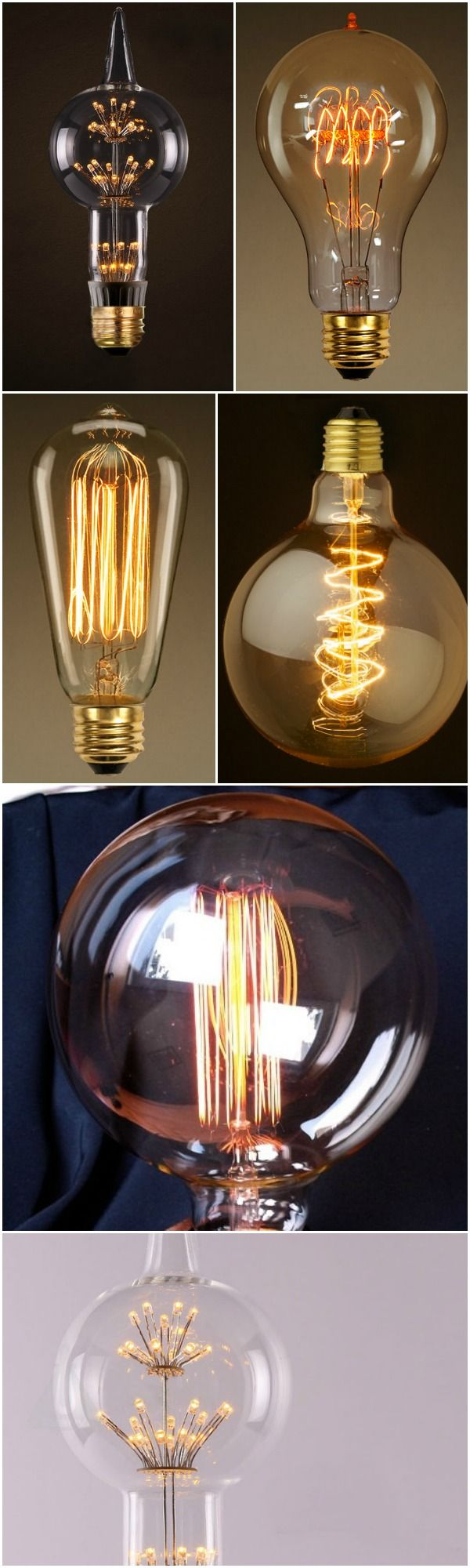 10 Edison Light Bulbs Comparative - #TableLamps #Antique #Design #Edison #Glass #Huge #Industrial #LED #LightBulb #Metal #Retro #Steampunk #Steel #Vintage (source: idlights.com)